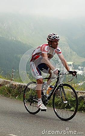Der Radfahrer Vladimir Gusev Redaktionelles Bild