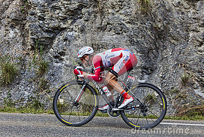 Der Radfahrer Yuri Trofimov Redaktionelles Foto