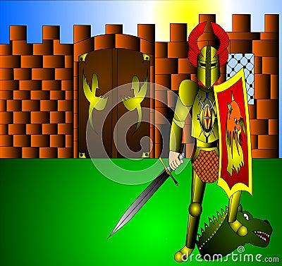 Der Ritter mit Waffe