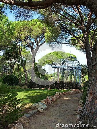 Der Weg Im Garten Stockfoto - Bild: 69705965