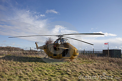 Derelict helicopter