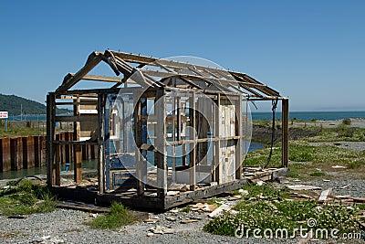 Derelict hut.