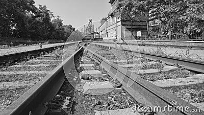 Derelict railways in an old factory
