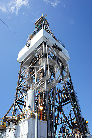 Derrick of Offshore Jack Up Drilling Rig