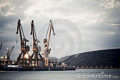 Derricks of the port