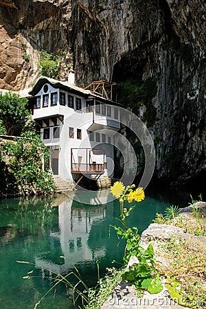 Dervish house in Blagaj Buna, Bosnia Herzegovina
