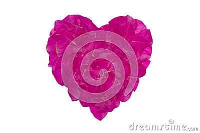 des p tales roses de la fleur de papier sont arrang s comme forme de coeur symbole de l 39 amour d. Black Bedroom Furniture Sets. Home Design Ideas
