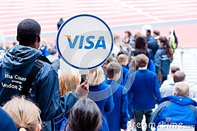 Desafío del atletismo de la inhabilidad de Londres de la visa Fotografía editorial