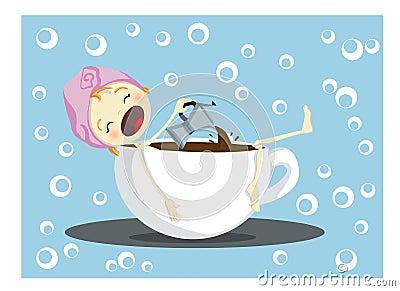 Descanso para tomar café