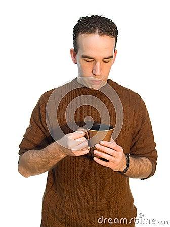 Descanso para tomar café del empleado