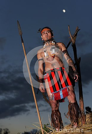 Free Descendant Of The Warrior Tribe- Naga Tattooed Man Stock Photography - 80595022