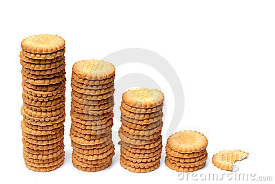 Descending graph made out of cookies