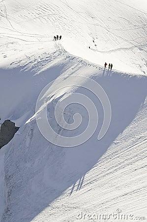 Descent of the Aiguille du Midi