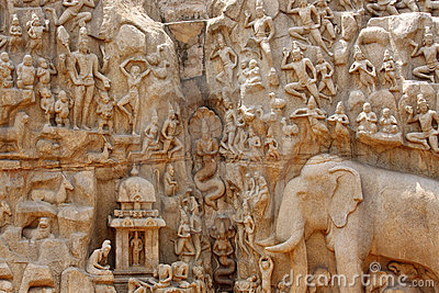 Descent of the Ganges Relief Sculpture