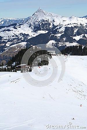 Descente de ski, Autriche.