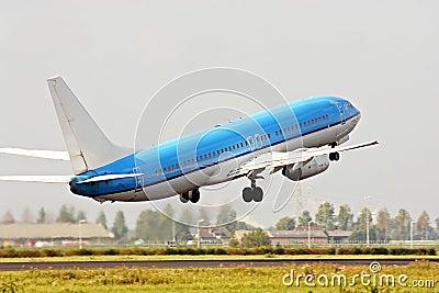 Descolagem do avião