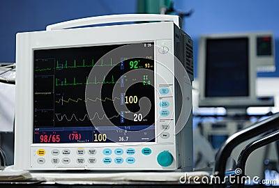 Descrição do monitor da anestesia