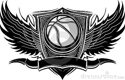 Descripteur graphique fleuri de bille de basket-ball