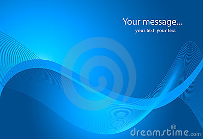 Description: Dynamic Wave Background in blue