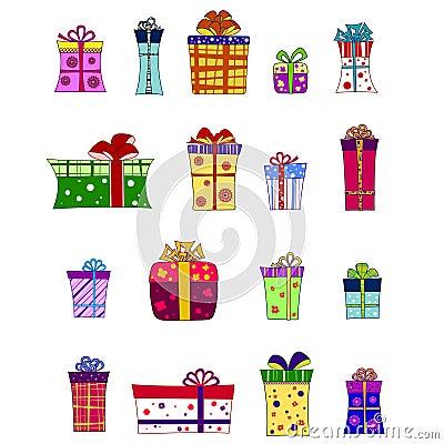 Desee el conjunto del rectángulo de regalo