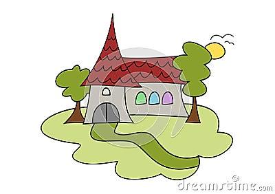 Resultado de imagem para igreja desenho