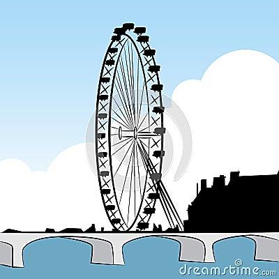 Desenho da roda de Ferris
