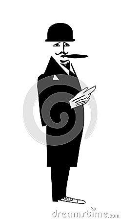Desenho do cavalheiro
