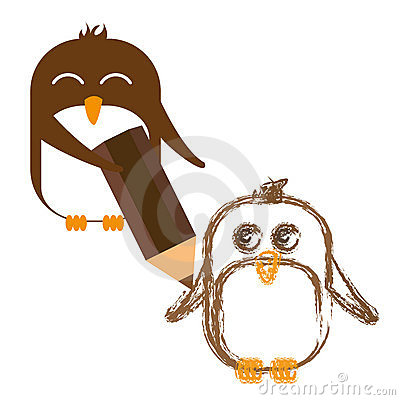 Desenho do pinguim