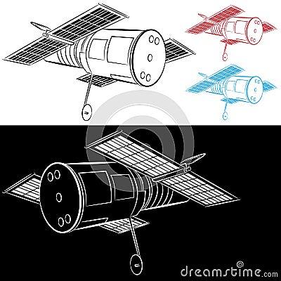 Desenho satélite do espaço