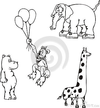 Desenhos animados animais africanos