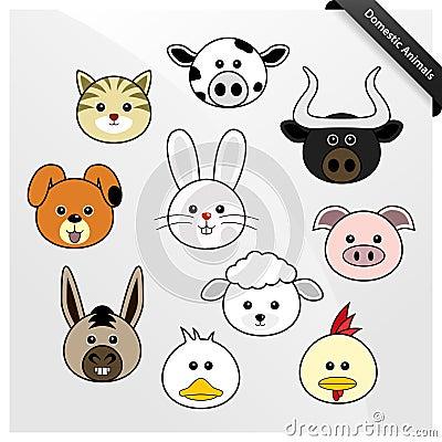 Desenhos animados bonitos do animal doméstico