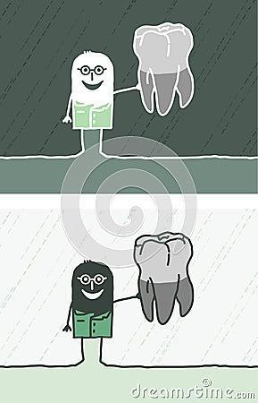 Desenhos animados coloridos dentista