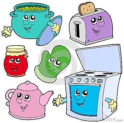 Desenhos animados da cozinha