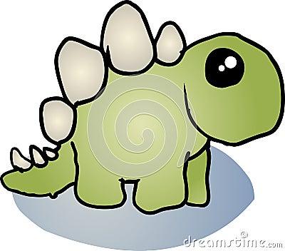 Desenhos animados do dinossauro do Stegosaurus