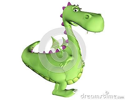 Desenhos animados do dragão - sentimento  sexy