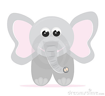 Desenhos animados do elefante do bebê