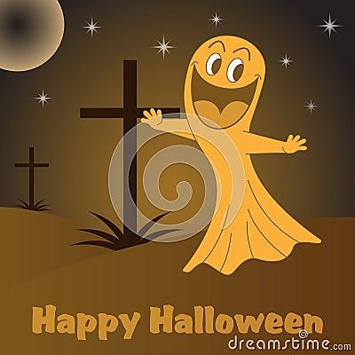 Desenhos animados do fantasma de Halloween