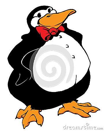 Desenhos animados do pinguim