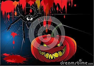 Desenhos animados do sangue de Halloween