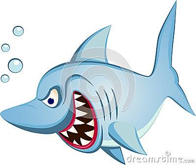 Desenhos animados do tubarão