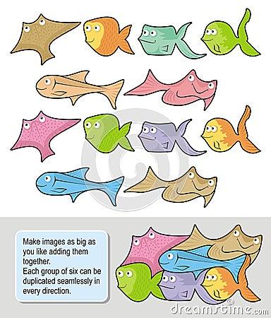 Desenhos animados dos peixes