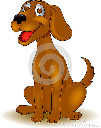 Desenhos animados engraçados do cão