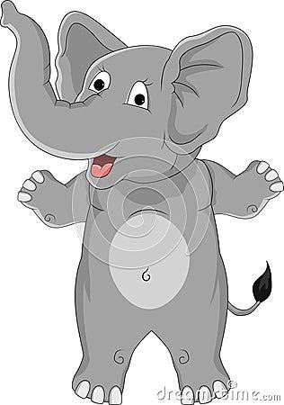 Desenhos animados engraçados do elefante