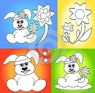 Desenhos animados para páginas do livro de coloração