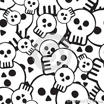 Deseniowa czaszka
