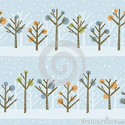 Deseniowa las zima