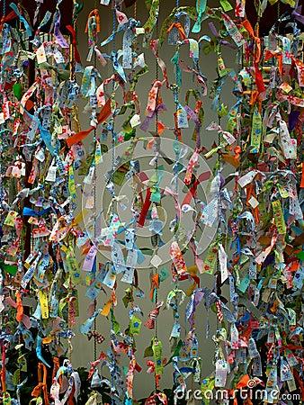 Deseos asiáticos del papel