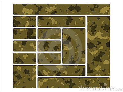 Desert Army Camouflage Website Navigation Buttons