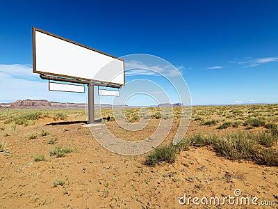 Desert billboard.