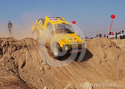 Desert car race Editorial Photography